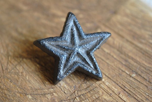 Cast Iron Double Star Knob