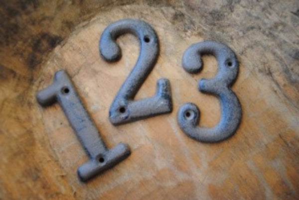 Cast Iron Numbers - Set of 10