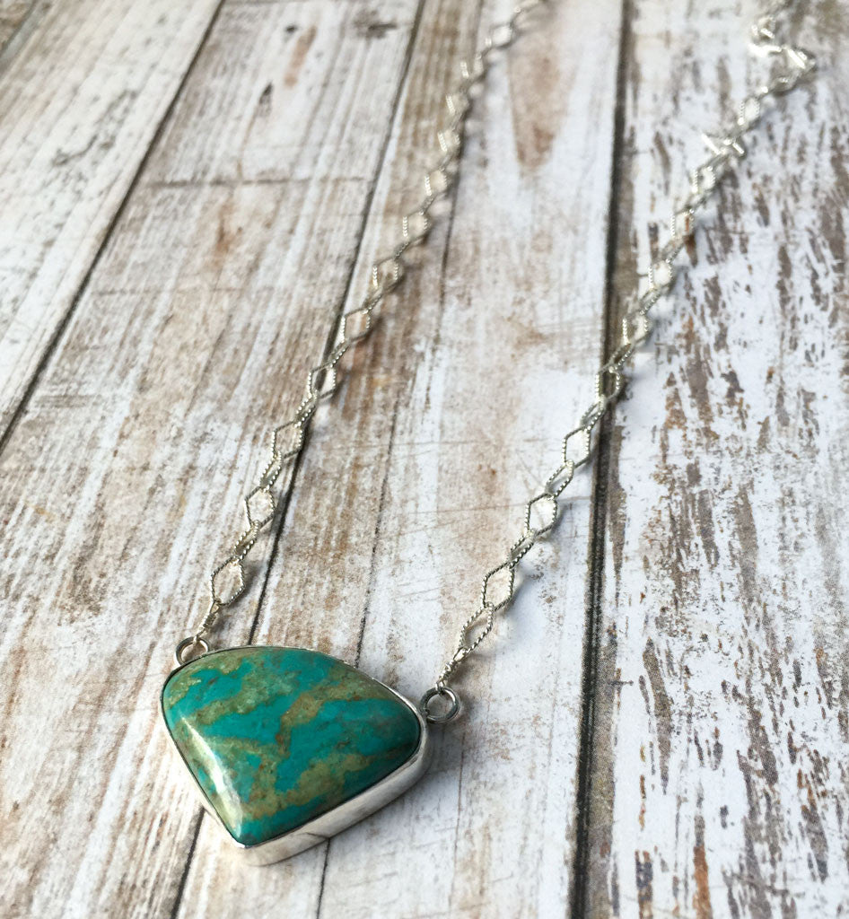 Chrysocolla Triangle on Diamond Chain