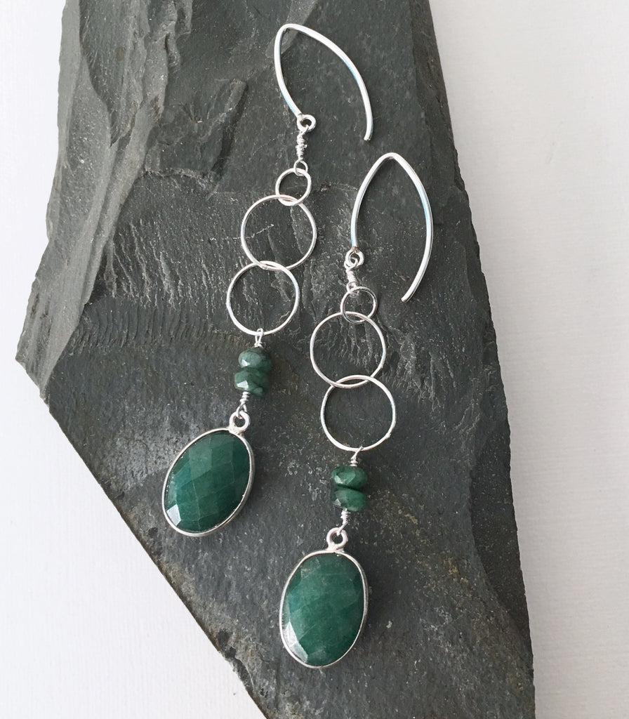 Emerald Drops + Emerald Hoops