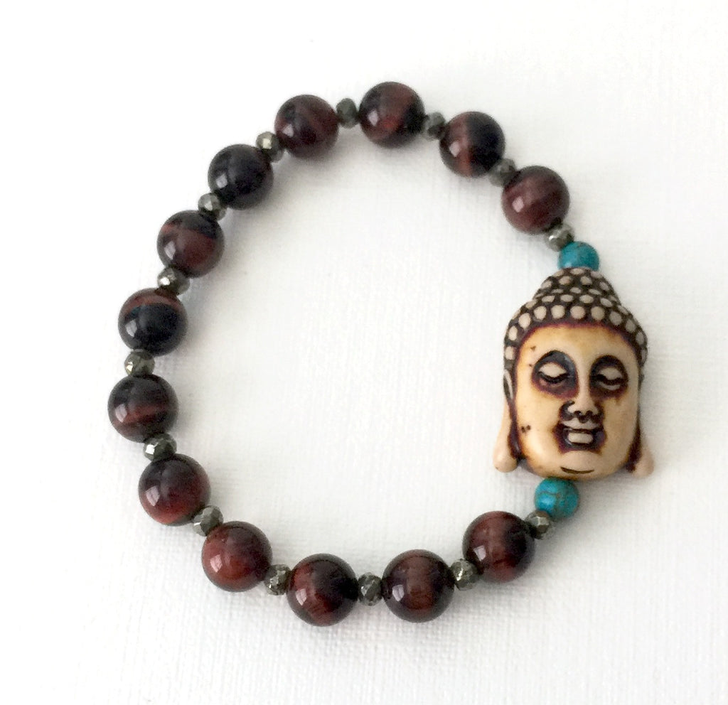 Red Tiger Eye,Turquoise Buddha