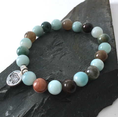 Amazonite and Fancy Jasper Elephant