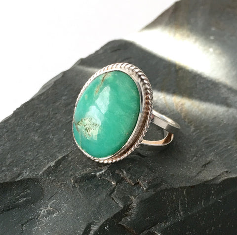 Chrysoprase Oval Ring