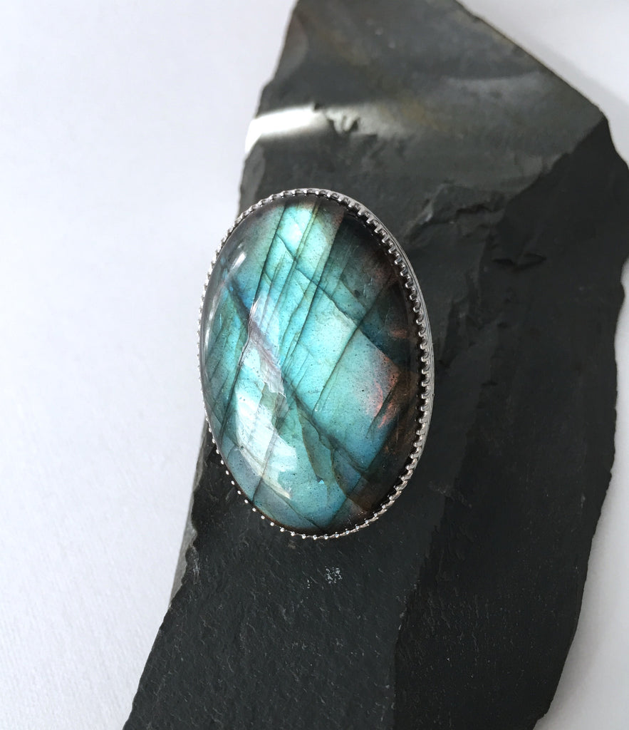 Labradorite Oval ring