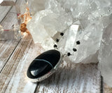 Black Banded Agate Necklace