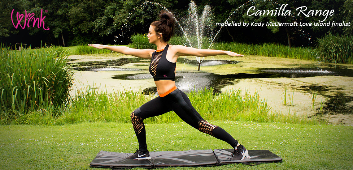 Activewear by Wink. Wink yoga clothing, pole dance clothing and fitness clothing, yogawear, fitnesswear and polewear