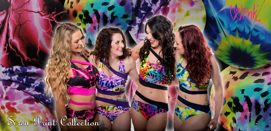 non-slip multi-coloured Siren range pole wear by Wink Designs
