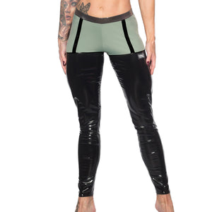 Valencia Eco Grip Suspender Leggings W0242 (black)