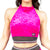 Glitter Mist Halter Top W0210 (black or raspberry)
