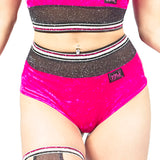 Glitter Mist High Waist Shorts W0211 (black or raspberry)