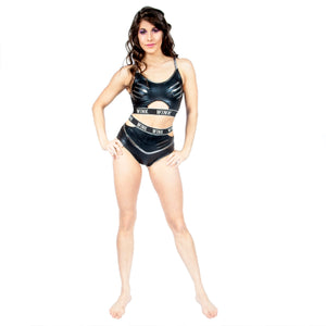 Wetlook Grip Athena High Waist Shorts W0199