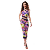 Siren Print Cropped Leggings W0159 - various colours