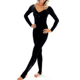 Long Sleeved Catsuit with Diamantes