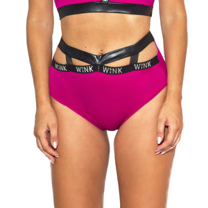 Infinity Eco High Waist Shorts W0230 (raspberry)