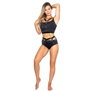 Infinity Eco High Waist Shorts W0230 (black snake)