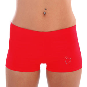 Lycra Hotpants with Diamante Detail W0110