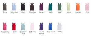 Ladies and Men's Vest Top with your Logo (minimum order 25)