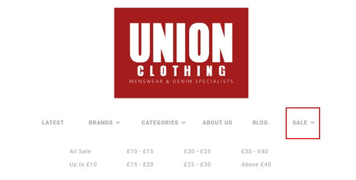Union Clothing Summer Sale Now On