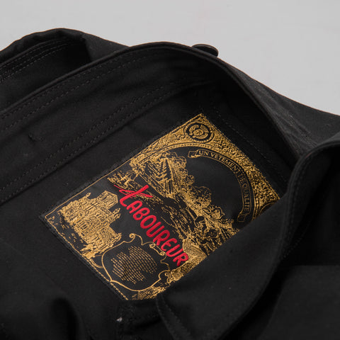 Le Laboureur Moleskin Work Jacket - Black 2