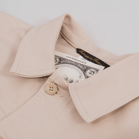 Le Laboureur Moleskin Work Jacket - Ecru 2