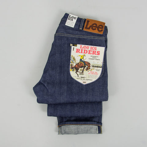 Lee 101 70s Rider Dry 13oz Selvage Jean - Denim 2