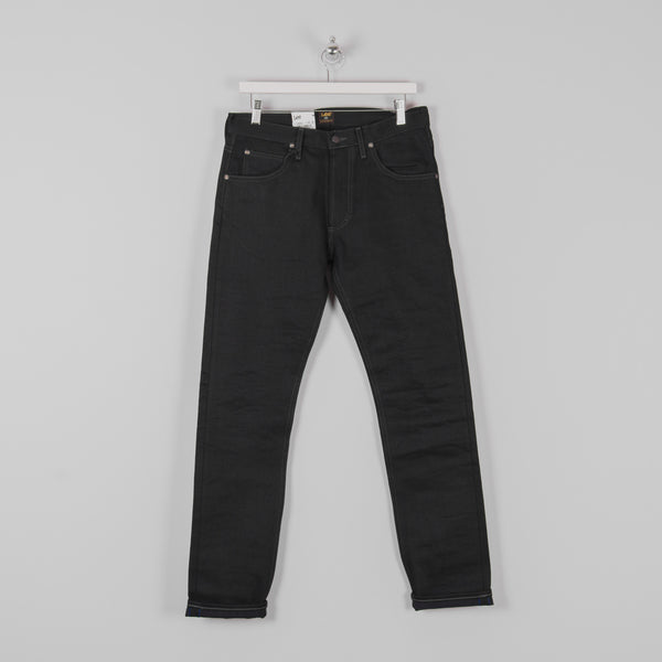 Lee 101 Rider Jeans - Blue Selvage Black Front