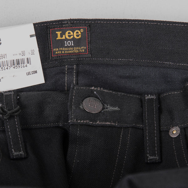 Lee 101 Rider Jeans - Blue Selvage Black Button