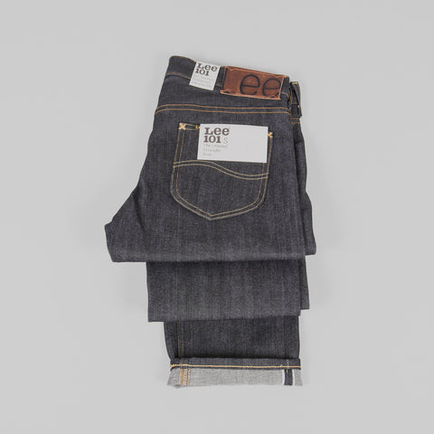 Lee 101 S KA Jeans - Dry Blue Selvage Detail