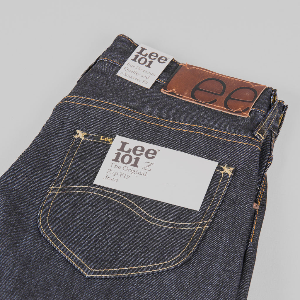 c3f42a45 Buy the Lee 101 Z KA Jeans - Dry Blue Selvage @Union Clothing ...