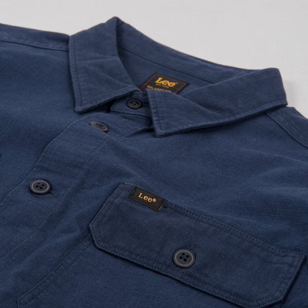 Lee Two Pocket Overshirt - Navy 2
