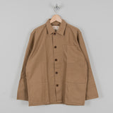 Uskees 3001 Button Overshirt - Khaki 1