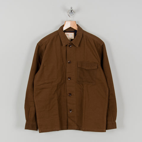 Uskees 3003 Button Single Pocket Shirt - Brown 1