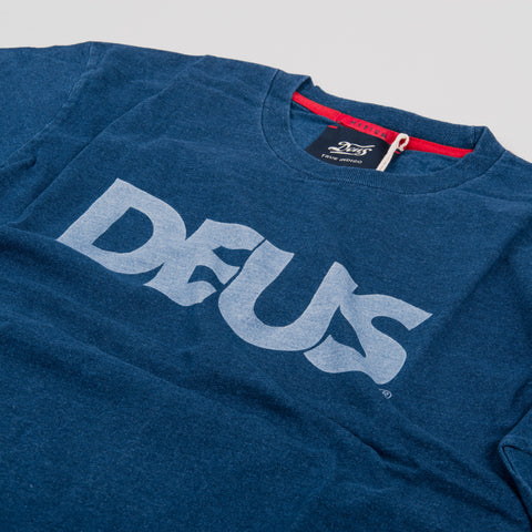 Deus ex Machina All Caps Tee - Dark Indigo 2