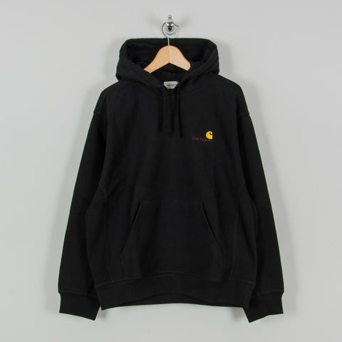 Carhartt WIP American Script Hooded Sweat - Black 1