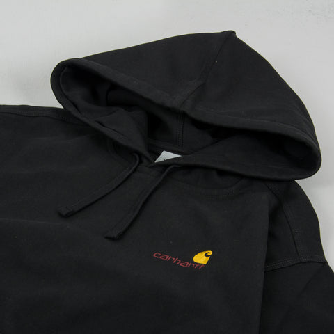 Carhartt WIP American Script Hooded Sweat - Black 2