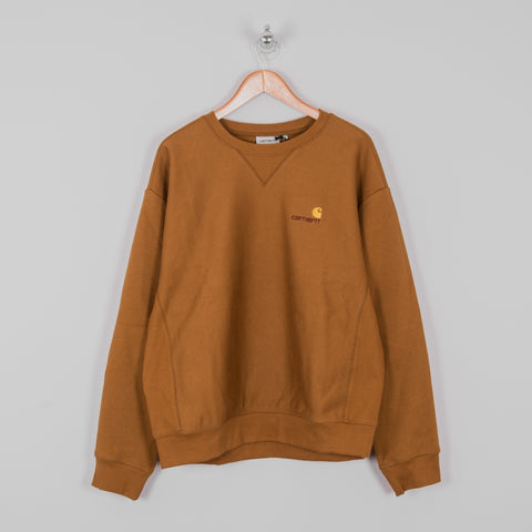 Carhartt American Script Sweat - Hamilton Brown 1