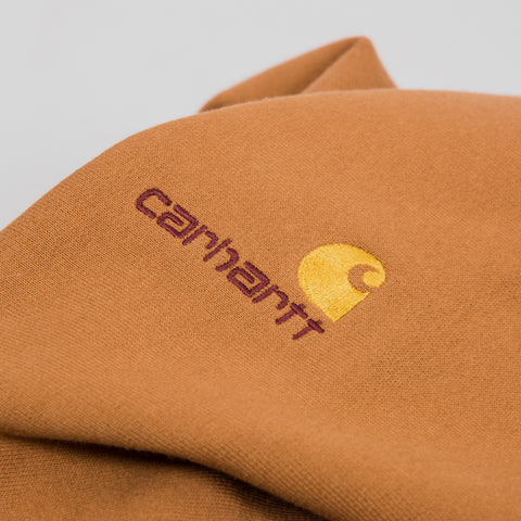 Carhartt American Script Sweat - Hamilton Brown 2