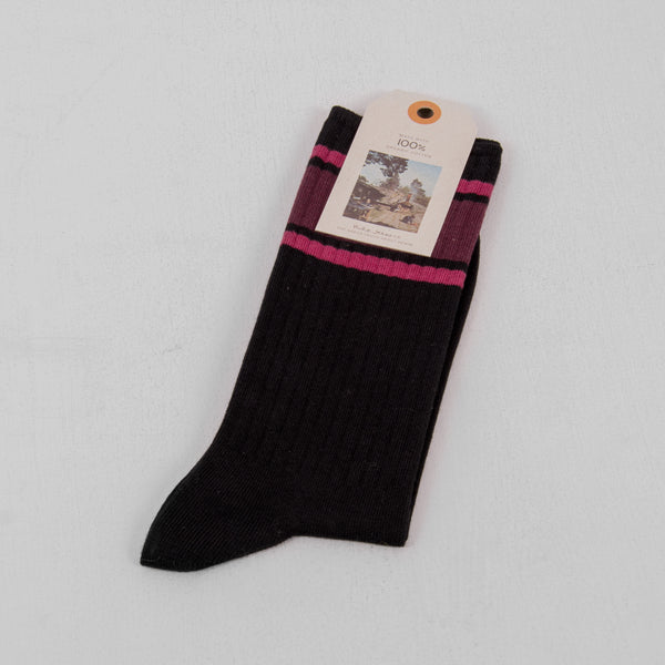 Nudie Amundsson Sport Sock - Black 1