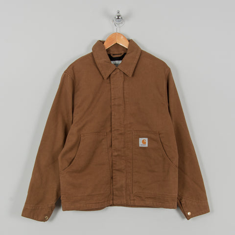 Carhartt WIP Arcan Jacket - Brown Rinsed 1