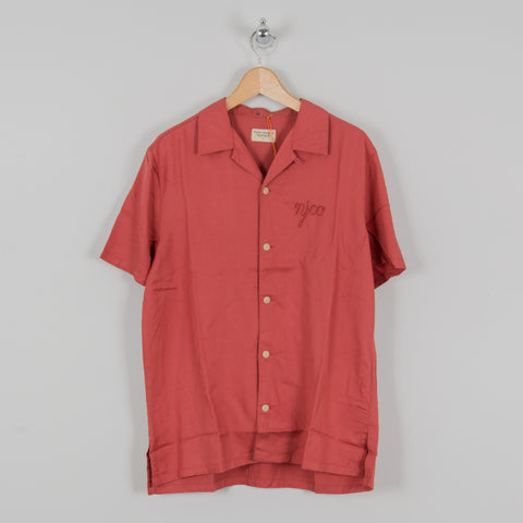Nudie Arvid NJCO S/S Shirt Dusty Red 1