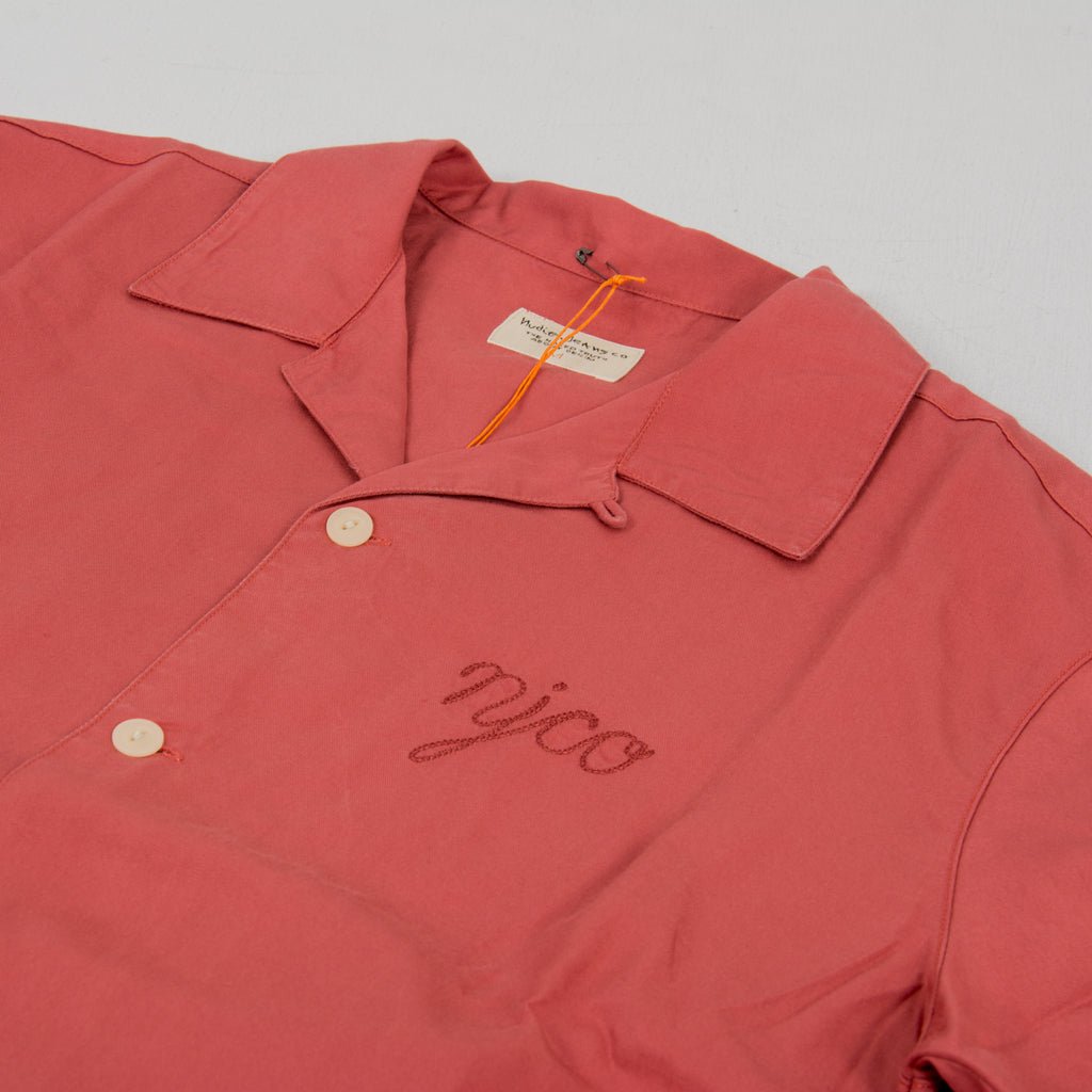 Nudie Arvid NJCO S/S Shirt Dusty Red 2