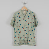 Nudie Arvid Random Dots S/S Shirt Pale Green 1