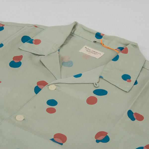 Nudie Arvid Random Dots S/S Shirt  Pale Green 2