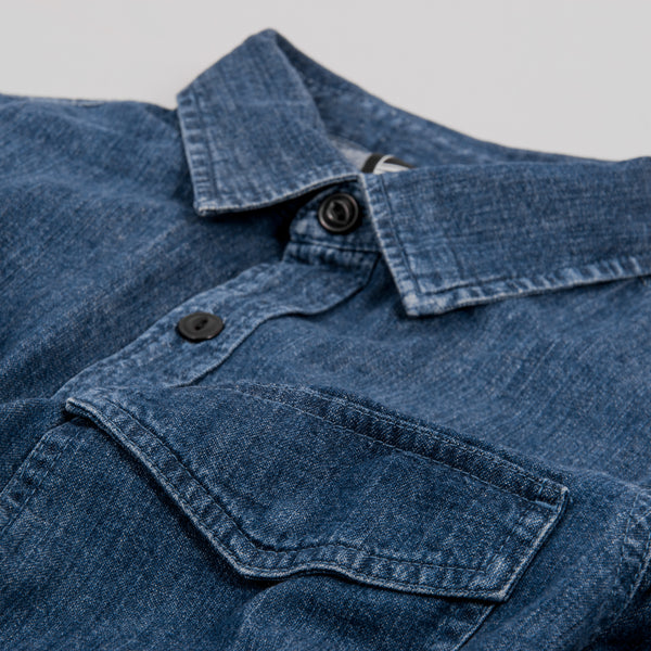 Edwin Big Shirt - Blue Easy Stonewash 2