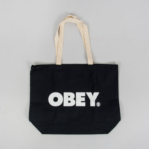 Obey Bold Tote Bag - Black 1