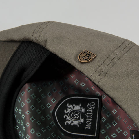 Brixton Brood Snap Flat Cap - Dark Military Olive 2