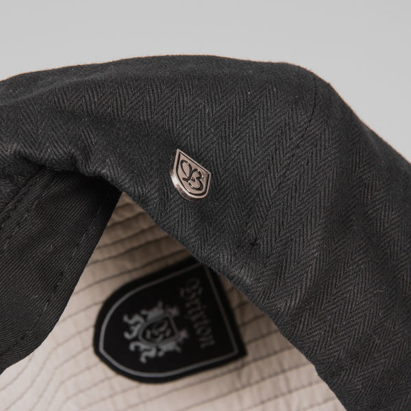 Brixton Brood Flat Cap - Black Detail
