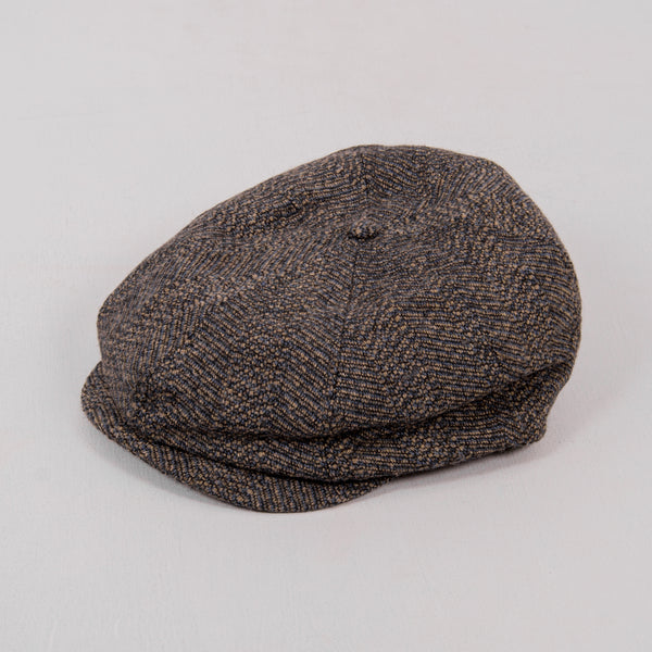 Brixton Brood Snap Flat Cap - Black / Washed Navy 1