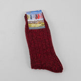 Donegal Socks in traditional Wool - 326 Burgundy 1