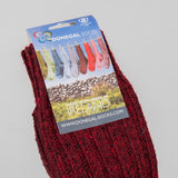 Donegal Socks in traditional Wool - 326 Burgundy 2